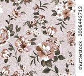 vintage flower seamless pattern ... | Shutterstock .eps vector #2008443713