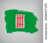 flag of umbria from brush...