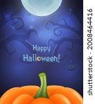 happy halloween background for... | Shutterstock .eps vector #2008464416