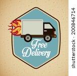 delivery design over beige... | Shutterstock .eps vector #200846714