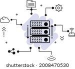 colocation server rack machine... | Shutterstock .eps vector #2008470530
