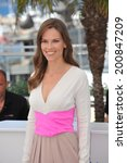 """Small photo of CANNES, FRANCE - MAY 18, 2014: Hilary Swank at the photocall for her new movie """"The Homesman"""" at the 67th Festival de Cannes."""