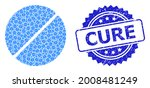 cure textured stamp seal and... | Shutterstock .eps vector #2008481249
