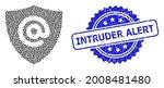 intruder alert unclean stamp...   Shutterstock .eps vector #2008481480