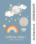 a simple vector of baby boy... | Shutterstock .eps vector #2008482659