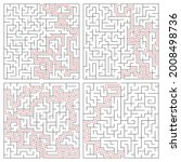 maze  labyrinth puzzle game.... | Shutterstock .eps vector #2008498736