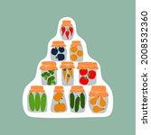 sticker design with jars for... | Shutterstock . vector #2008532360