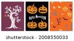 halloween symbols hand drawn...   Shutterstock .eps vector #2008550033