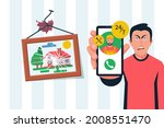 person cannot attach a picture... | Shutterstock .eps vector #2008551470