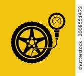 road sign tire pressure gauge.... | Shutterstock .eps vector #2008551473