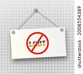 a prohibited sign with lgbt...   Shutterstock .eps vector #2008554389
