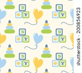 seamless pattern for newborn... | Shutterstock .eps vector #200856923