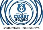 u.s. coast guard day in united...   Shutterstock .eps vector #2008583996