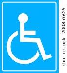 White Icon Wheelchair Blue...
