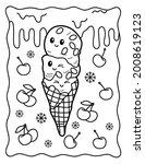 Kawaii Coloring Page. Ice Cream ...
