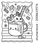 Kawaii Coloring Page Whale In A ...