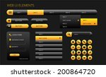 modern black and yellow web ui...