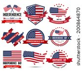 independence day badge and... | Shutterstock .eps vector #200864870