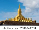 Pha That Luang Vientiane  Laos. ...