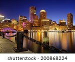 Boston Harbor At Night From Th...