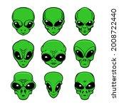illustration of alien head in...   Shutterstock .eps vector #2008722440