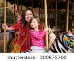 a young mother and her... | Shutterstock . vector #200872700