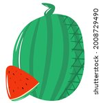 watermelon composition  a whole ...   Shutterstock .eps vector #2008729490