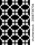 ornament with elements of black ... | Shutterstock . vector #2008738706