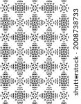 ornament with elements of black ... | Shutterstock . vector #2008738733