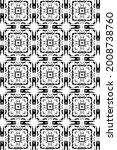 ornament with elements of black ... | Shutterstock . vector #2008738760