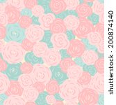 seamless floral pattern.... | Shutterstock .eps vector #200874140