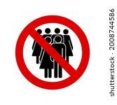 no crowd icon. quarantine... | Shutterstock .eps vector #2008744586