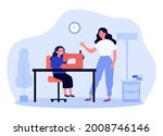 mother teaching daughter to use ...   Shutterstock .eps vector #2008746146
