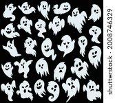 ghost set. spooky halloween... | Shutterstock .eps vector #2008746329