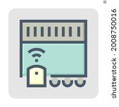electric gate vector icon....   Shutterstock .eps vector #2008750016