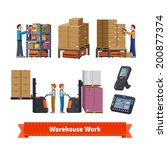 warehouse operations  walkie... | Shutterstock .eps vector #200877374