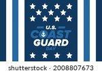 u.s. coast guard day in united...   Shutterstock .eps vector #2008807673