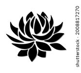 vector black silhouette of a...   Shutterstock .eps vector #2008817270