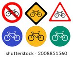 set of bicycle signs on white... | Shutterstock .eps vector #2008851560