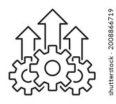 growth product icon vector...