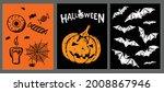 halloween symbols hand drawn...   Shutterstock .eps vector #2008867946