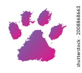 tiger's paw  ink dog paw ...   Shutterstock .eps vector #2008868663