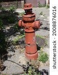 Old Red Fire Hydrant In The...