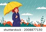 autumn landscape city woman...   Shutterstock .eps vector #2008877150