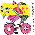 typography summer cartoon print ...   Shutterstock .eps vector #2008885529