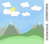 Cloud  Sun And Mountain Summer...