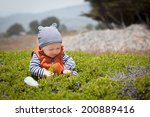 adorable baby boy sitting in... | Shutterstock . vector #200889416