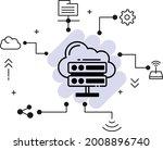 clustered hosting vector glyph... | Shutterstock .eps vector #2008896740