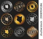 kenya business metal stamps.... | Shutterstock .eps vector #2008904186