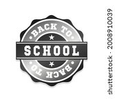 back to school badge icon seal. ... | Shutterstock .eps vector #2008910039